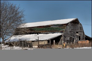 Old Barn - Multi-colored shingles